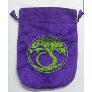 Tree of Lfe Purple Velvet Bag