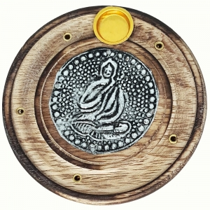 FLAT ROUND ASH CATCHER - Buddha 10cm