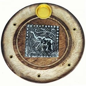 FLAT ROUND ASH CATCHER - Elepahant 10cm
