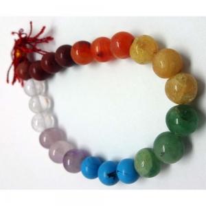 7 Chakra Worry Bead Bracelet