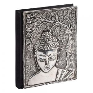 JOURNAL - Aluminium Buddha 7.6cmx 10cm