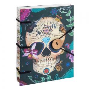 JOURNAL - Skull Printed Paper 17.7cm x 12.7cm