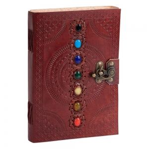 JOURNAL - 7 Chakra Leather 22.8cm x 15cm