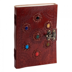 JOURNAL - 7 Chakra Leather 22.8cmx 15cm