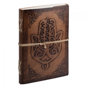 JOURNAL - Hamsa Hand Leather Embossed 22.8cmx 15cm