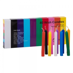 Wish Candle 1.25cm x 10cm (40 Pack) Assorted