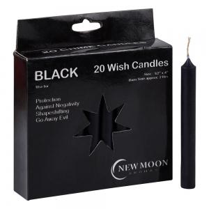 Wish Candle 1.25cm x 10cm (20 Pack) Black