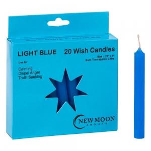 Wish Candle 1.25cm x 10cm (20 Pack) Light Blue