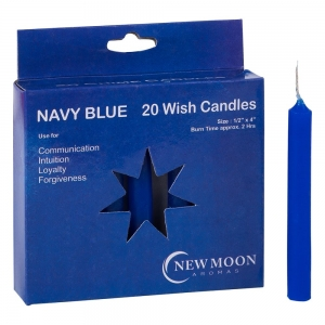 Wish Candle 1.25cm x 10cm (20 Pack) Navy Blue