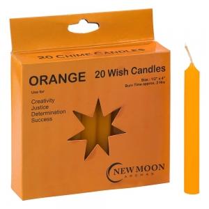 Wish Candle 1.25cm x 10cm (20 Pack) Orange