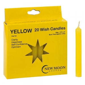 Wish Candle 1.25cm x 10cm (20 Pack) Yellow