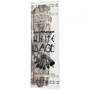 12.5cm Medium White Sage Packaged